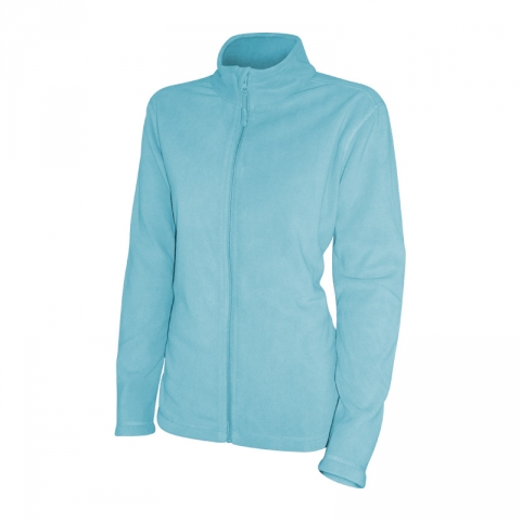 Mikina dámská fleece na zip LIGHT AZURE v.XL